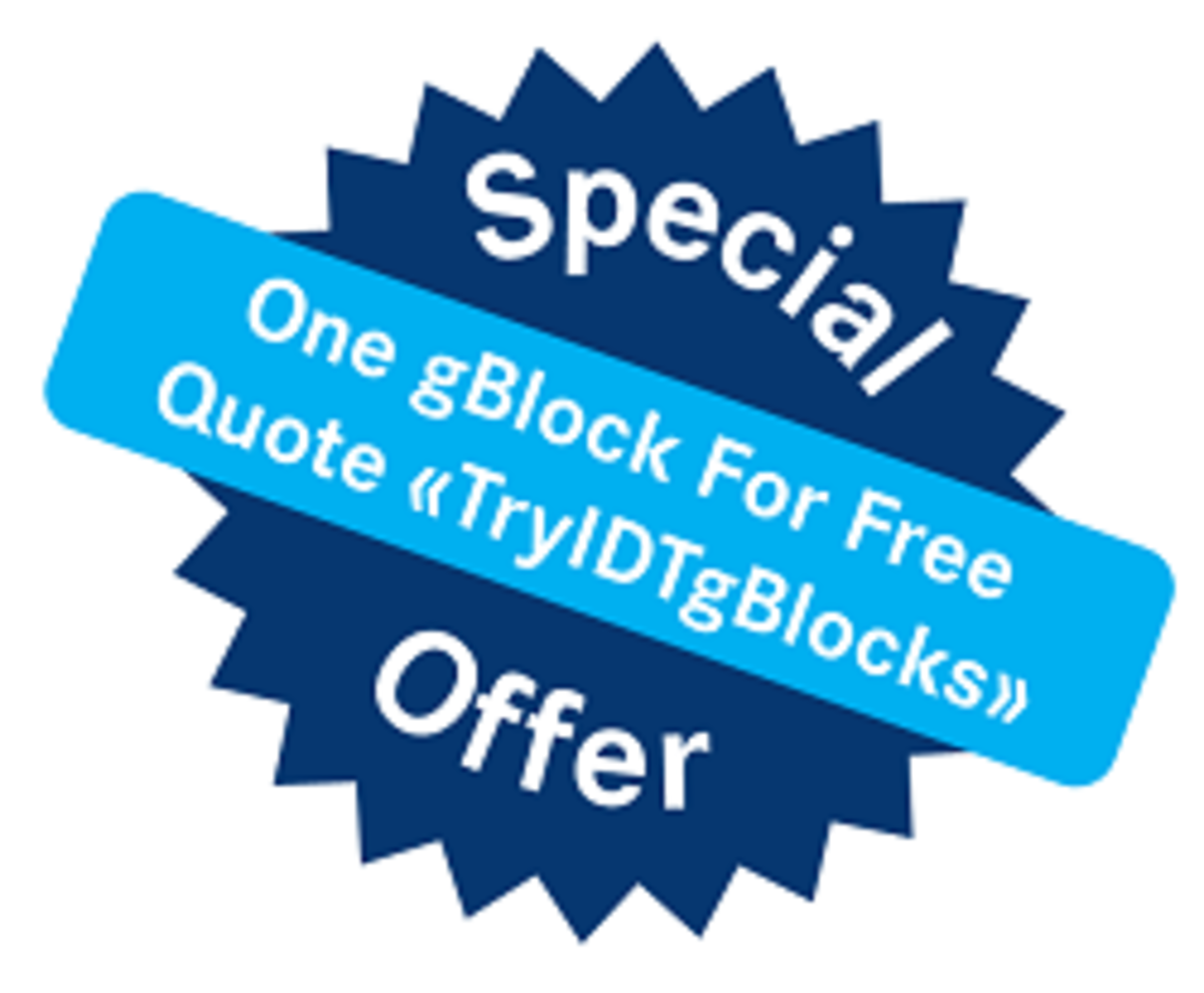 IDT free gBlock synthetic gene