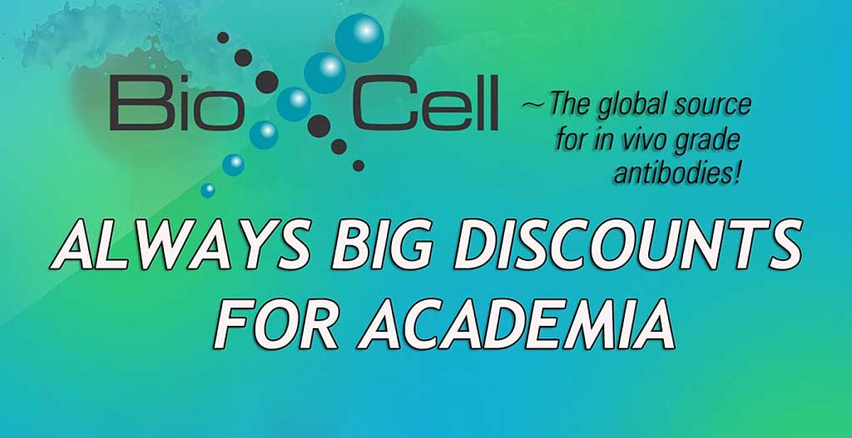 Academia discounts for Bio X Cell products