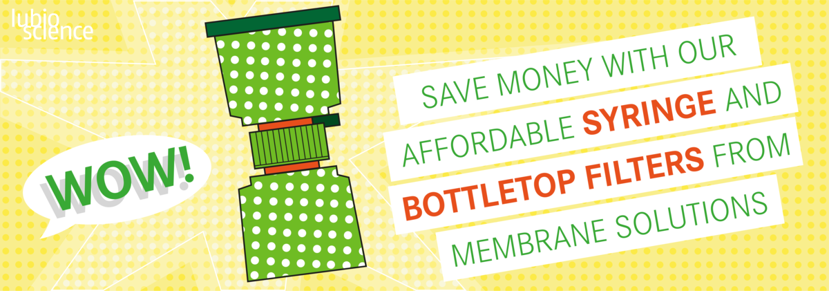 Save money with our affordable syringe and bottletop filters from membrane solutions