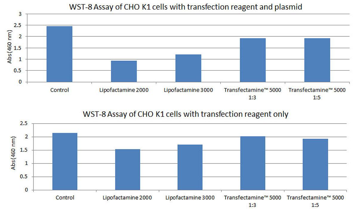 Low toxicity of Transfectamine