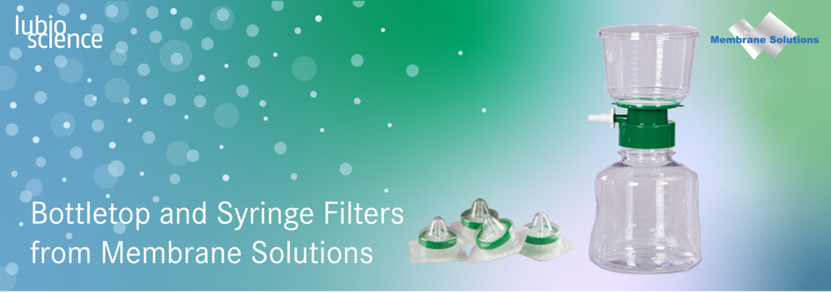 Bottletop and syringe filters from membrane solutions